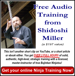 Ninjutsu master teacher: Shidoshi Jeffrey M. Miller