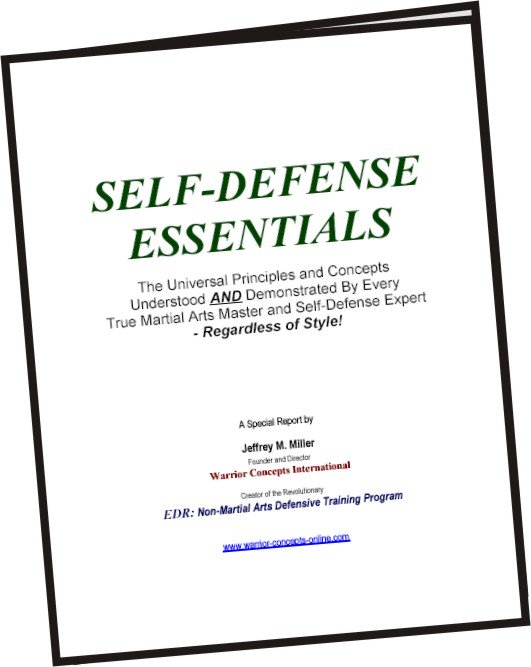 Special self-defense report by Shidoshi Jeffrey M. Miller